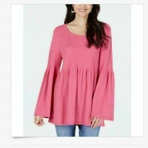 Style & Co M Pink Pullover Sweater 4AA35